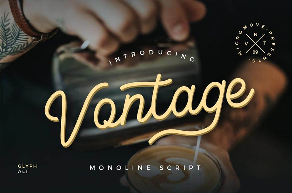 Vontage - Monoline Typeface
