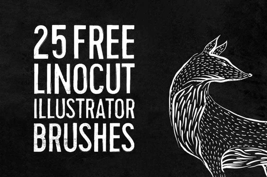 Free Linocut & Woodcut Brushes for Illustrator
