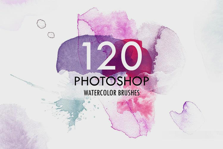 120 Photoshop Watercolor Brushes