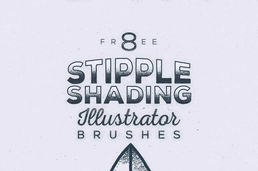 Stipple Shading Brushes for Illustrator