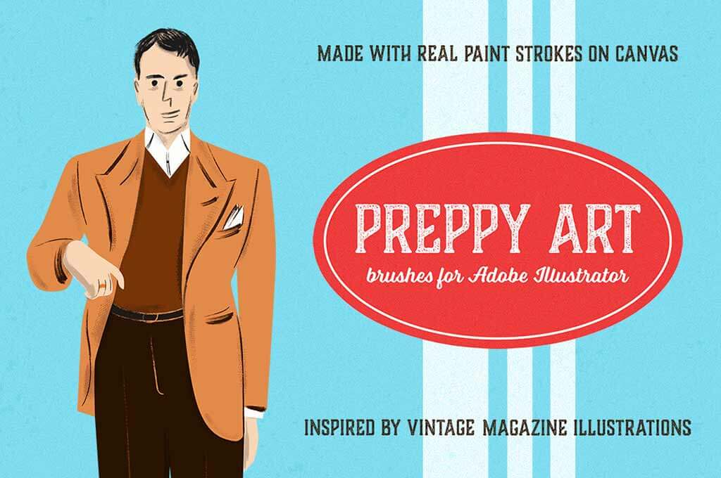 Preppy Art Illustrator Brushes
