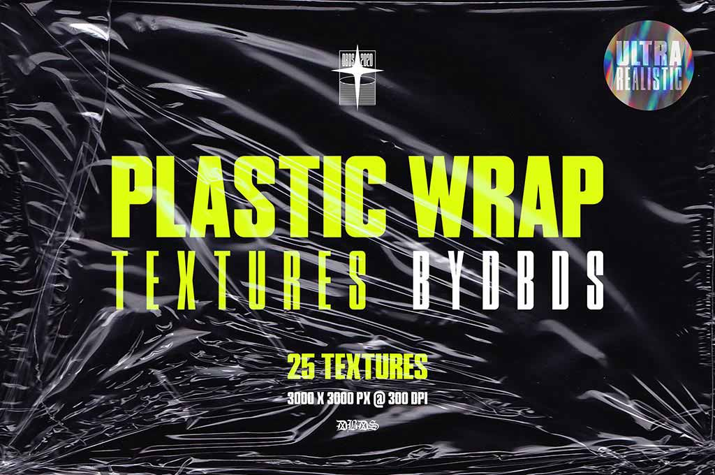 25 Plastic Wrap Textures