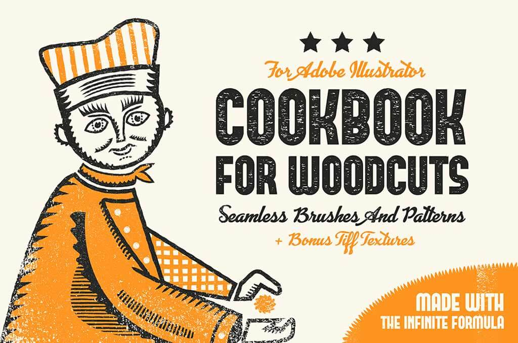 Woodcuts Illustrator Brushes Set