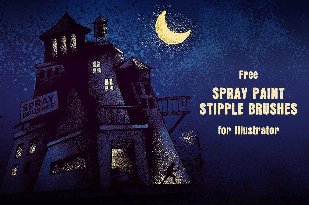 Free Spray Paint Stipple Brushes for Illustrator