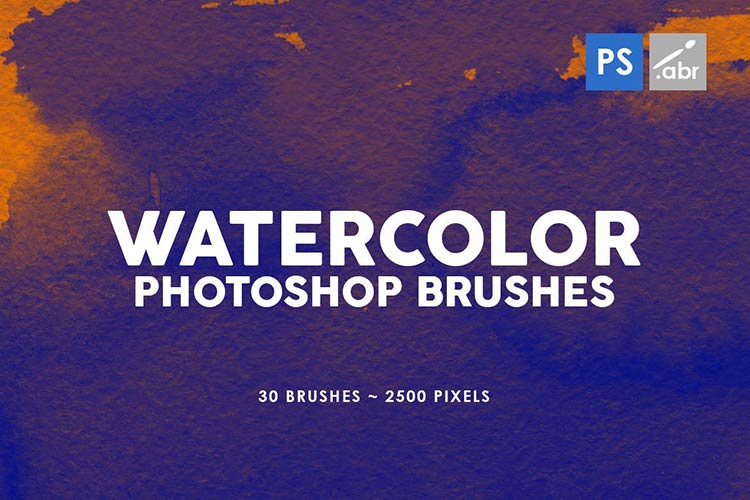 30 Photoshop Watercolor Brushes