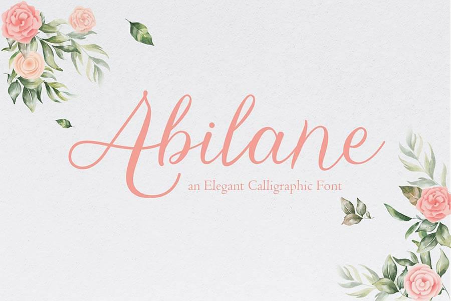 Abilane — Elegant Calligraphic