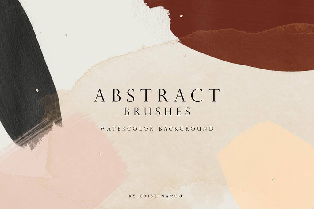 Abstract Watercolor Brushes