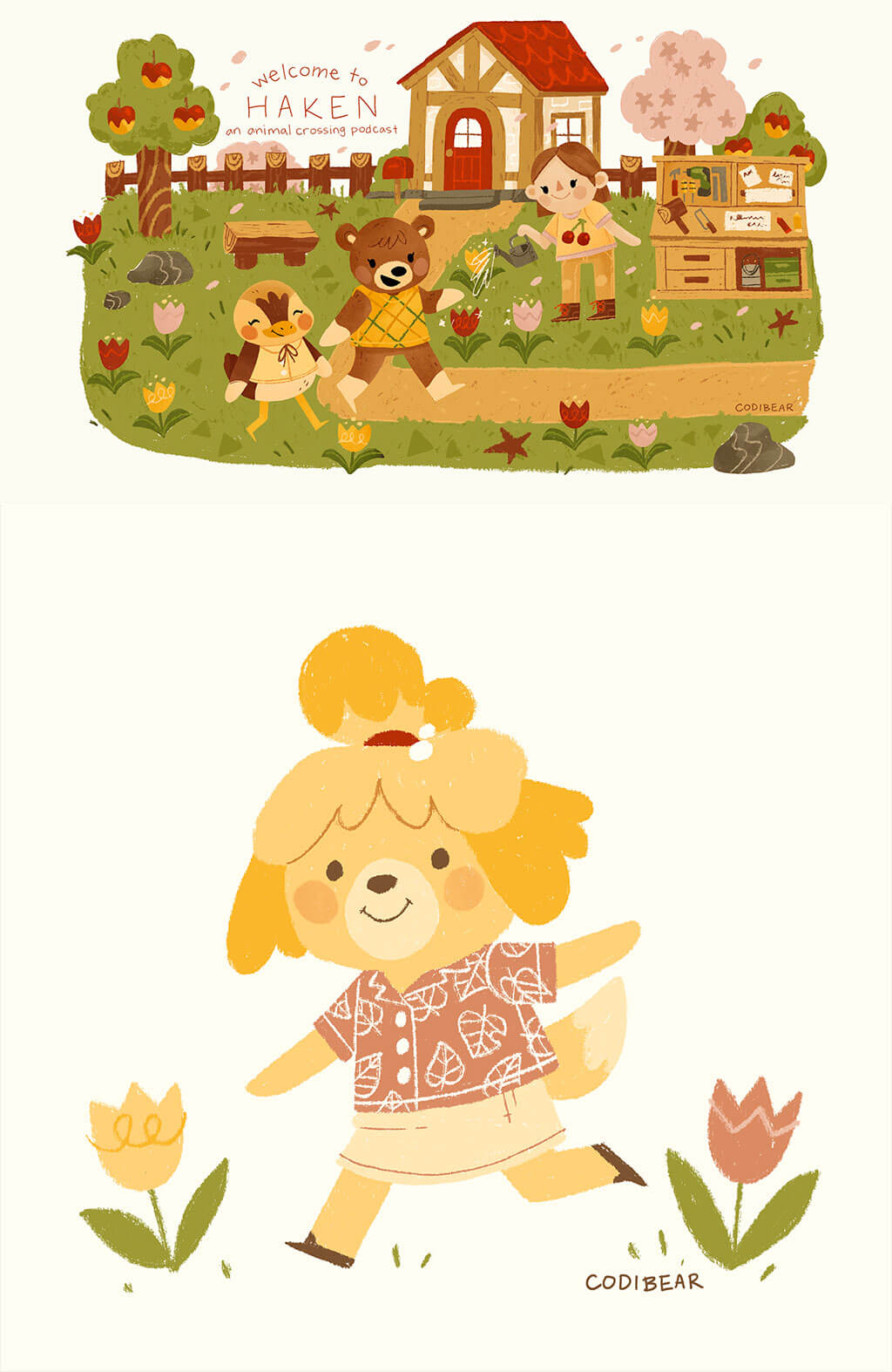 Animal Crossing Fan Art by Codi Bear