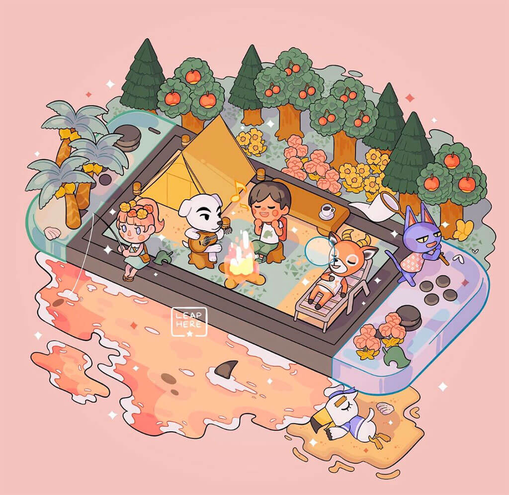 Animal Crossing Fan Art by Leaphere
