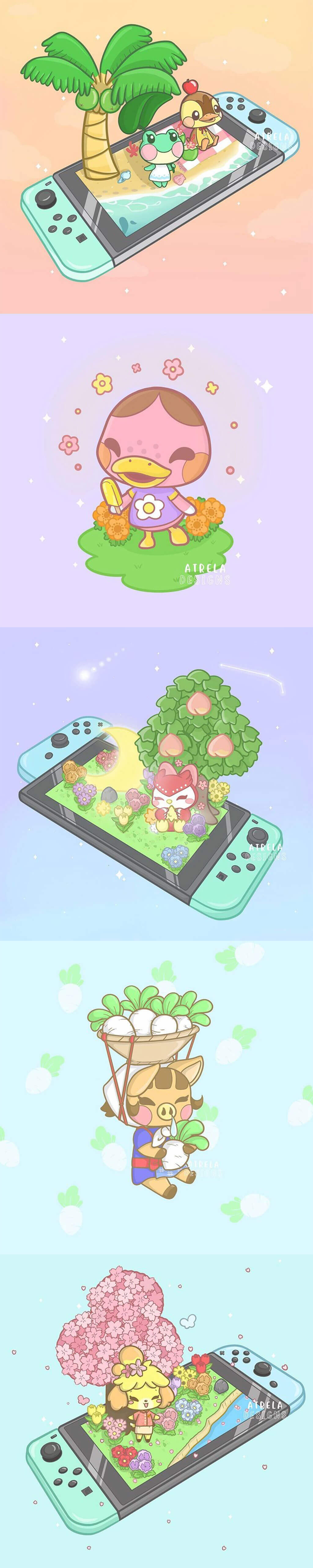 Animal Crossing Fan Art by atrela.designs