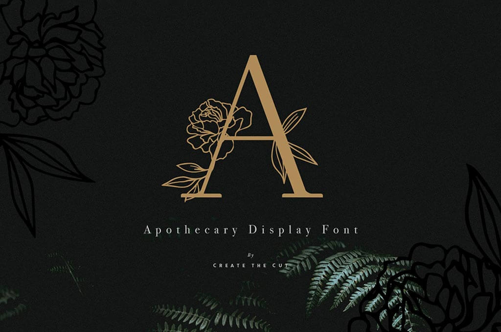 Apothecary Display Flower Font