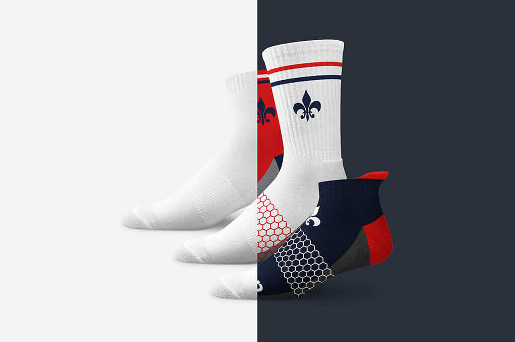 Athletic Socks Mockup Set