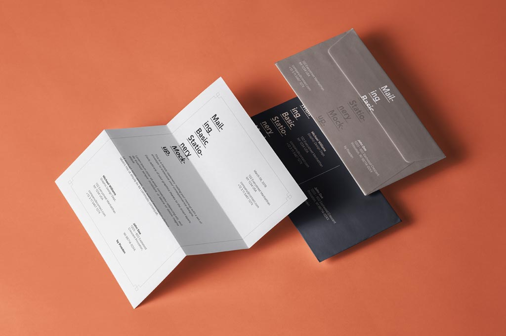 Basic Mailing Stationery Mockup