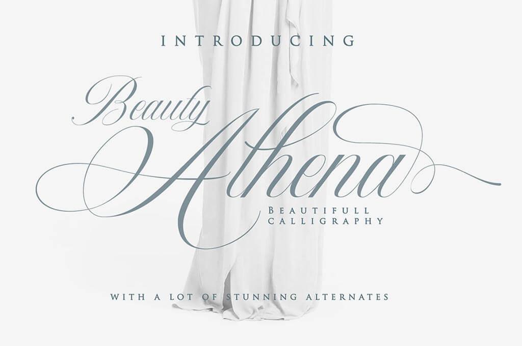 Beauty Athena – Beautiful Calligraphy Font
