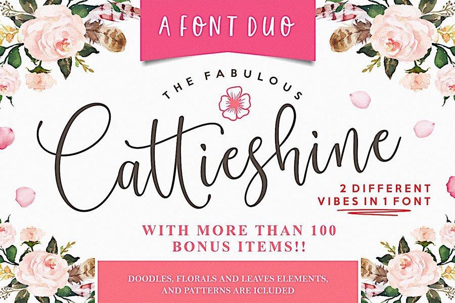 Cattieshine Script Font