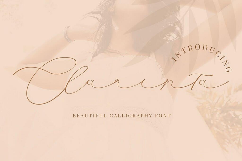 Clarinta — Beautiful Calligraphy