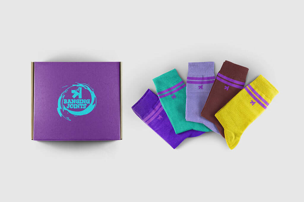 Colorful Socks Mockup Set