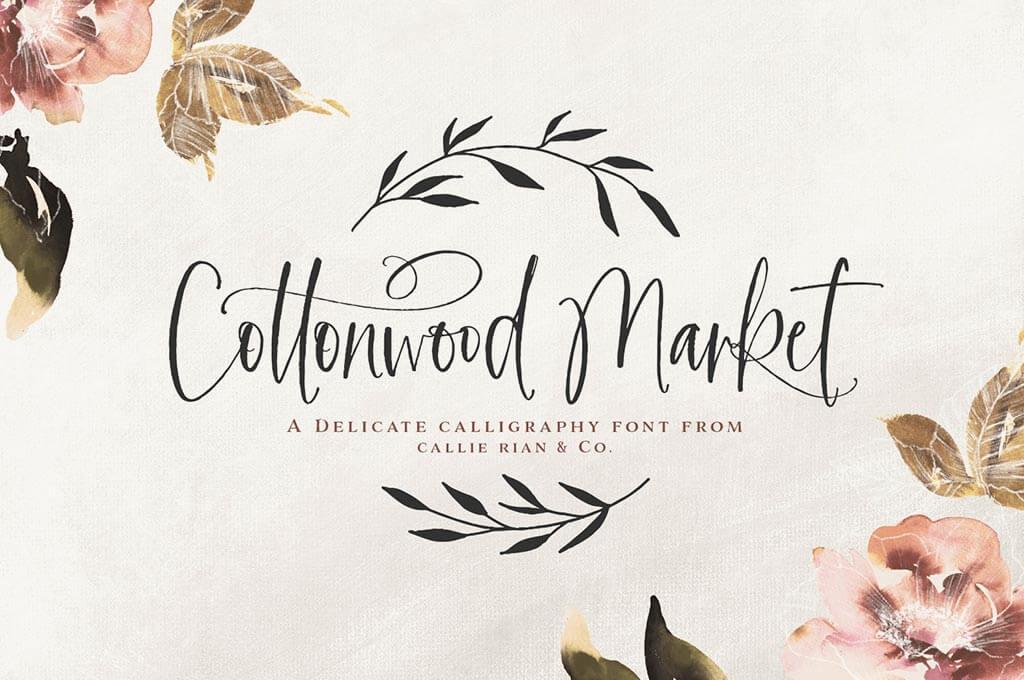 Cottonwood Market Calligraphy Type