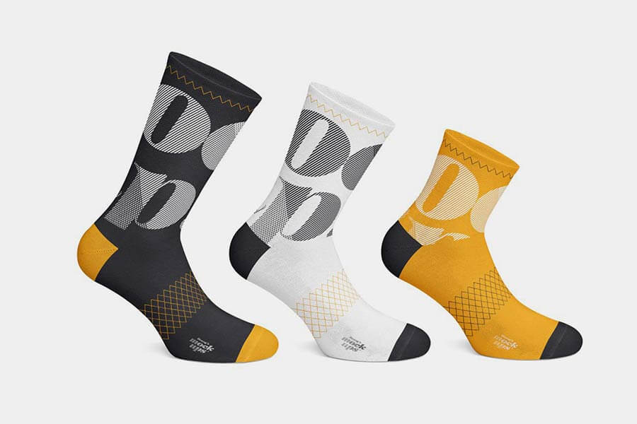 Cycling Socks Apparel Mockup Set