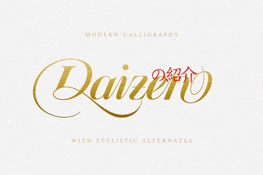 Daizen Script Font