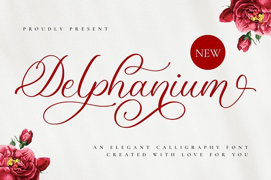 Delphanium — Romantic Calligraphy Font