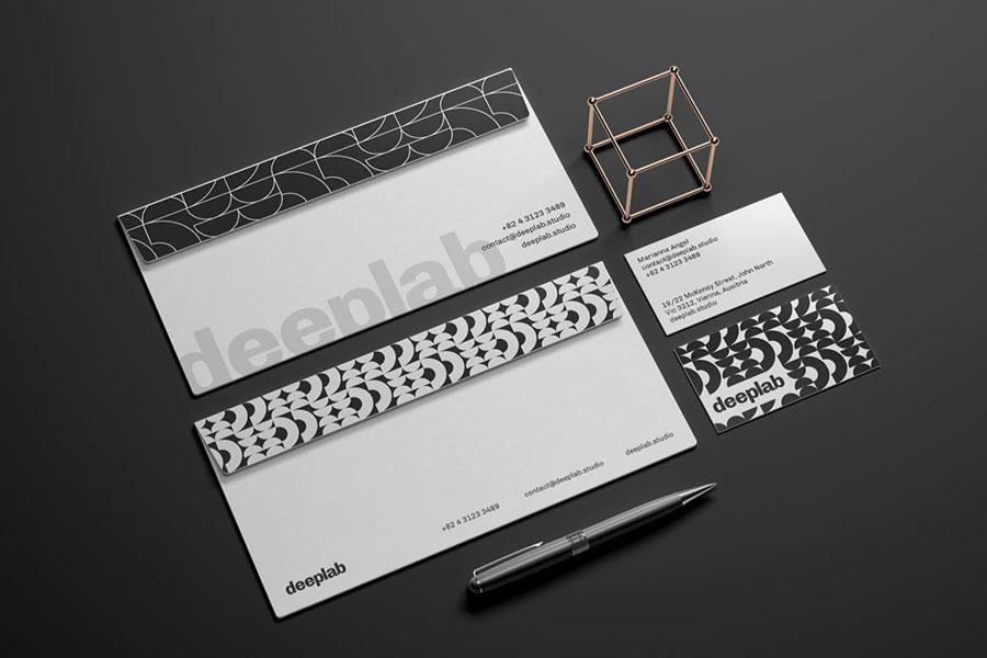 Envelope and Business Card Branding Mockup Set
