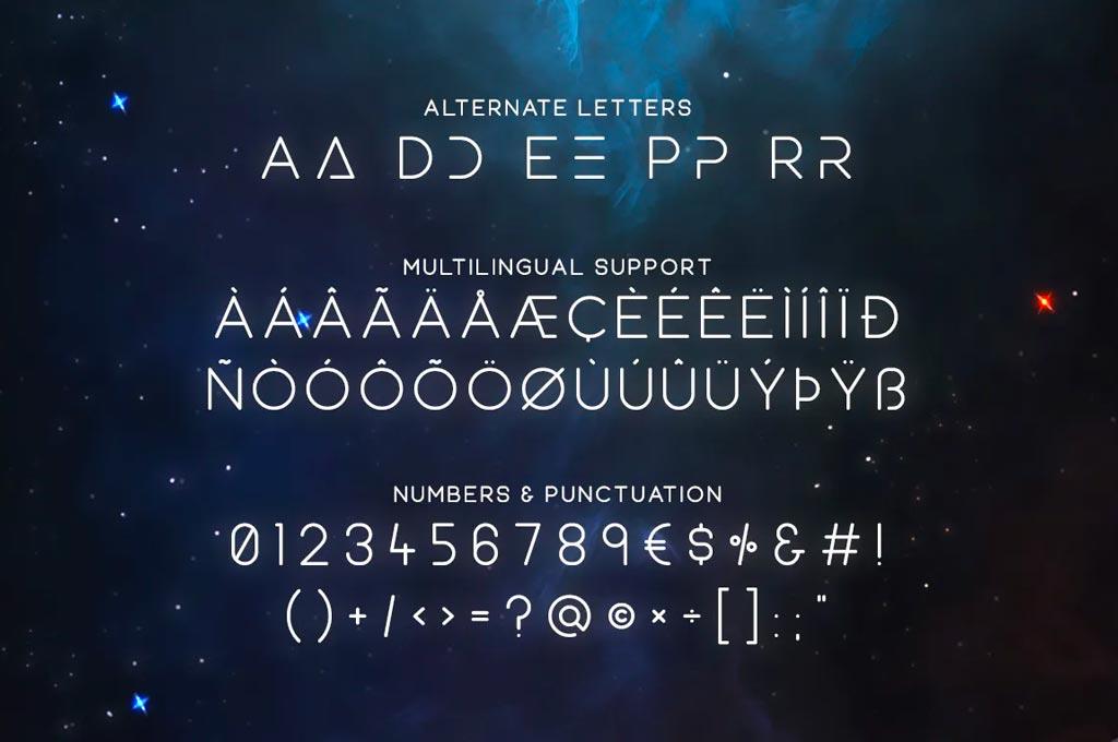 Equinox Futuristic Typeface
