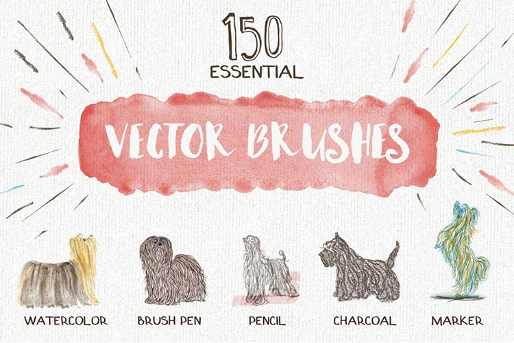 Essential Vector Watercolor Brushes