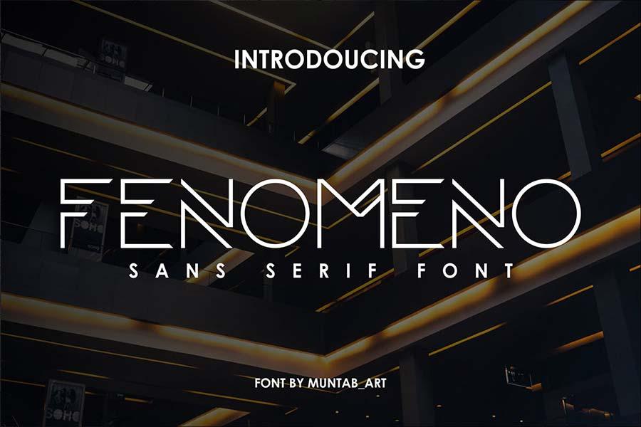 Fenomeno | Futuristic Font