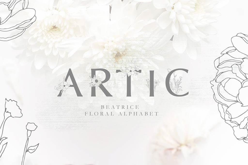 36 Floral Fonts For Perfect Botanical Compositions The Designest
