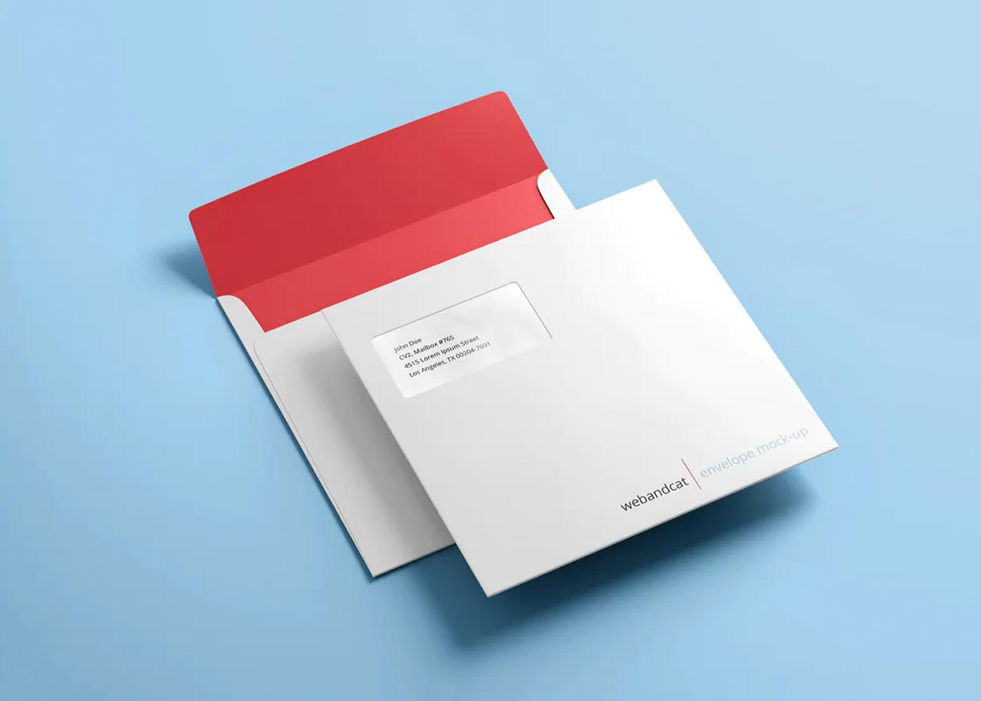 Free Envelope Mockup Scene