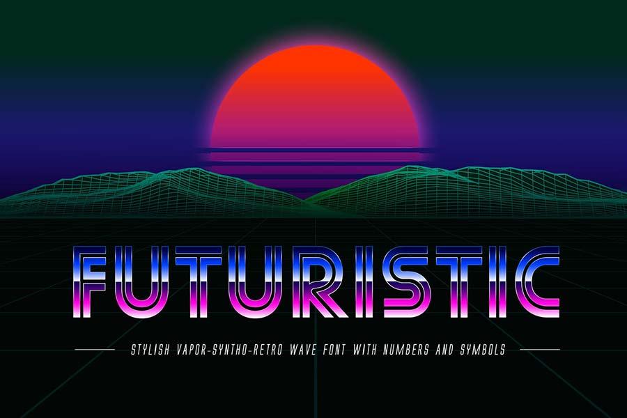 Futuristic OTF 80s Font