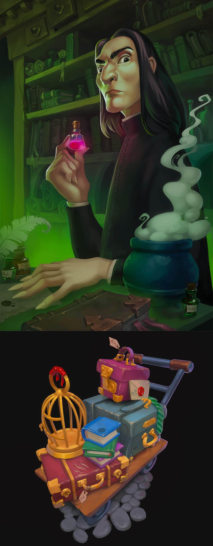 Harry Potter Fan Art by Anastasia Frantsek