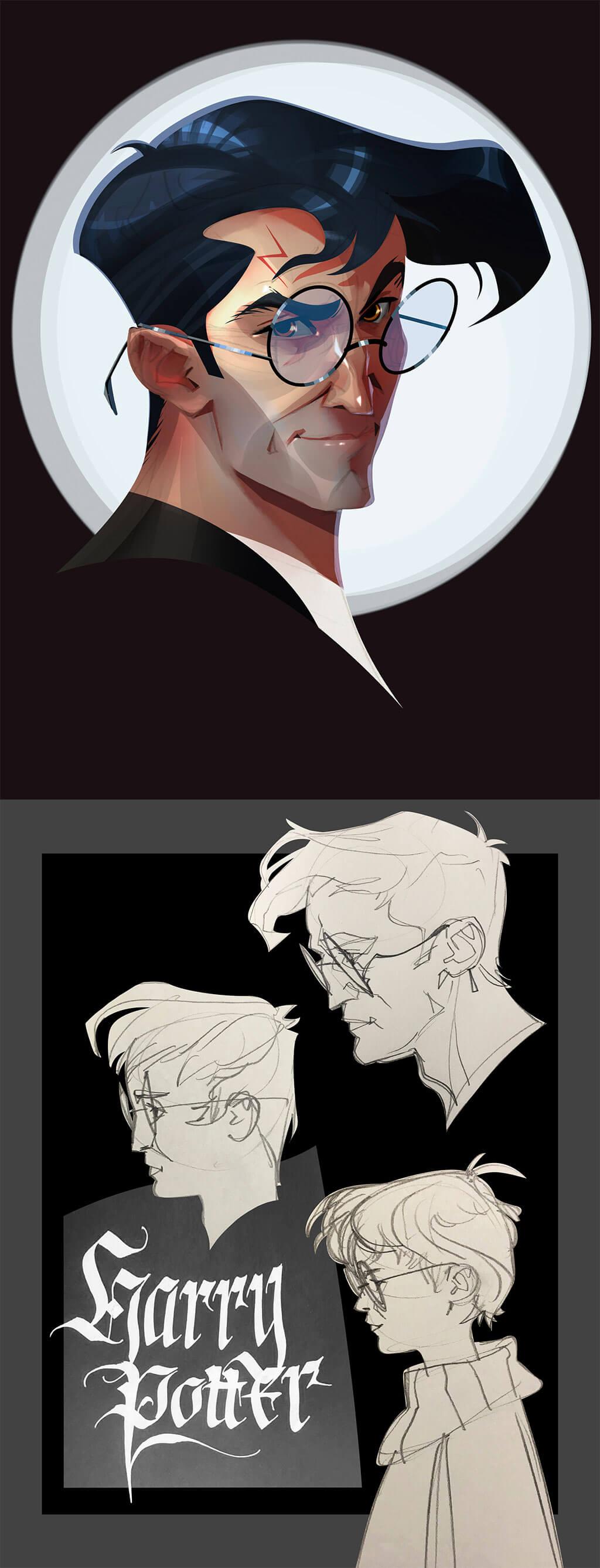 Harry Potter Fan Art by Anilia Larmina