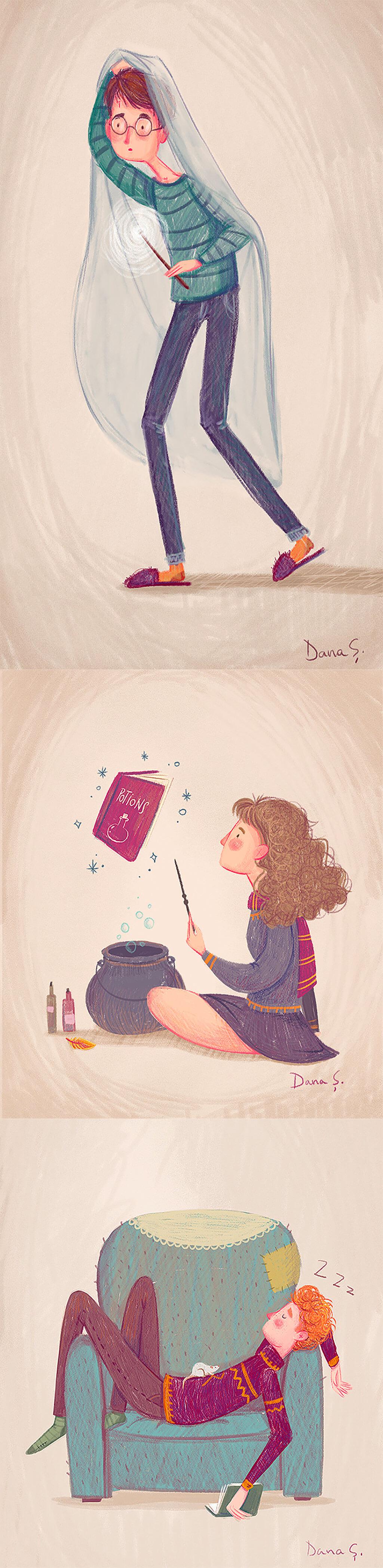 Harry Potter Fan Art by Daniela Sosa