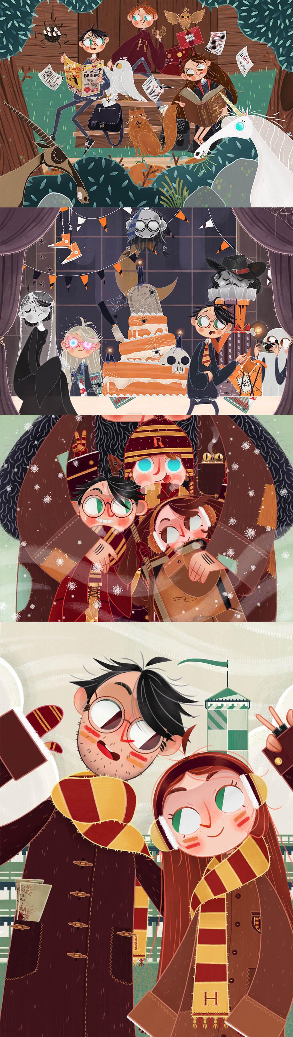 Harry Potter Fan Art by Giada Gatti