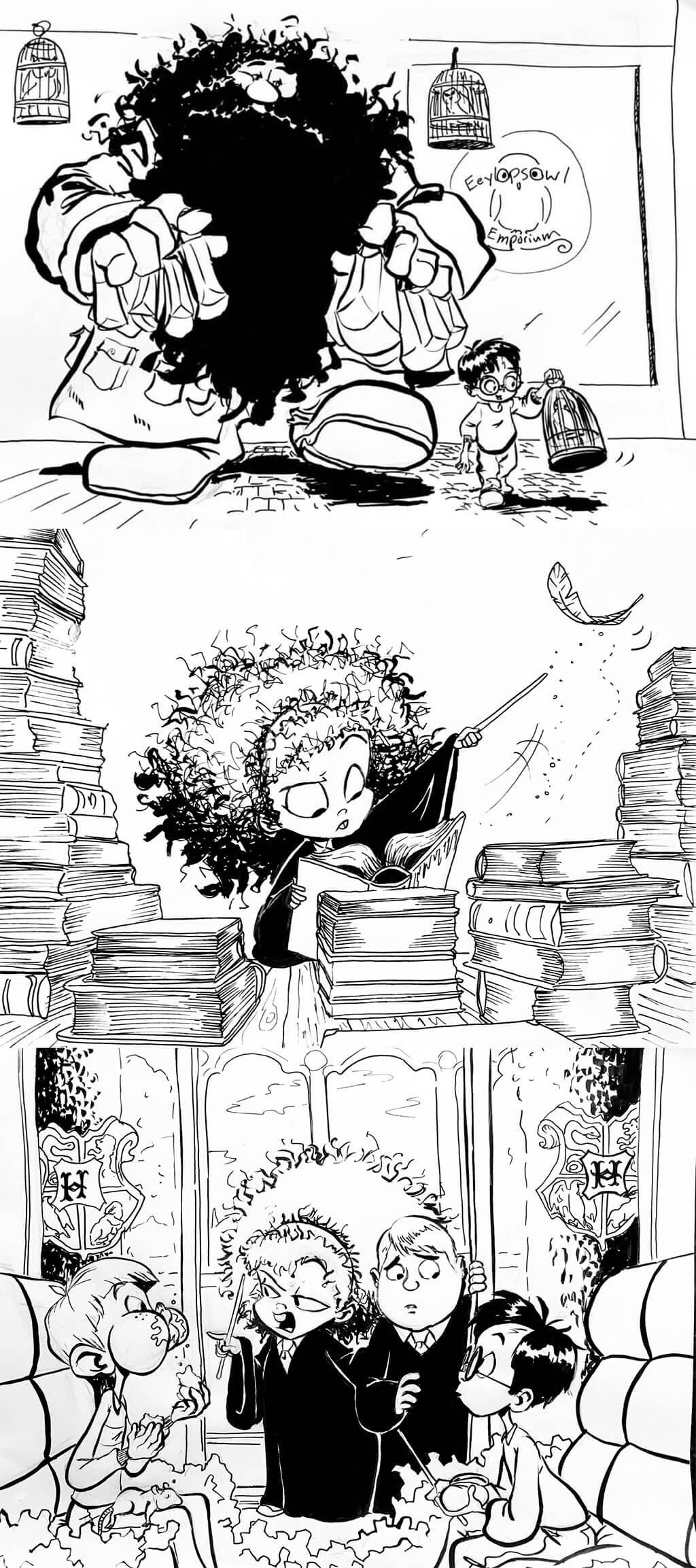 Harry Potter Fan Art by James Bourne