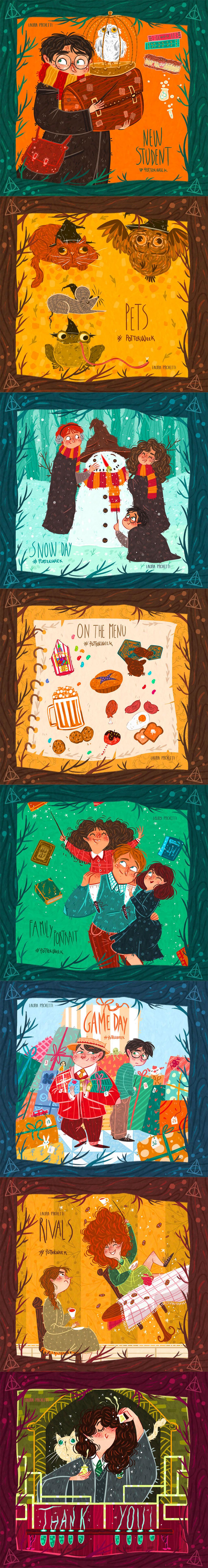 Harry Potter Fan Art by Laura Proietti