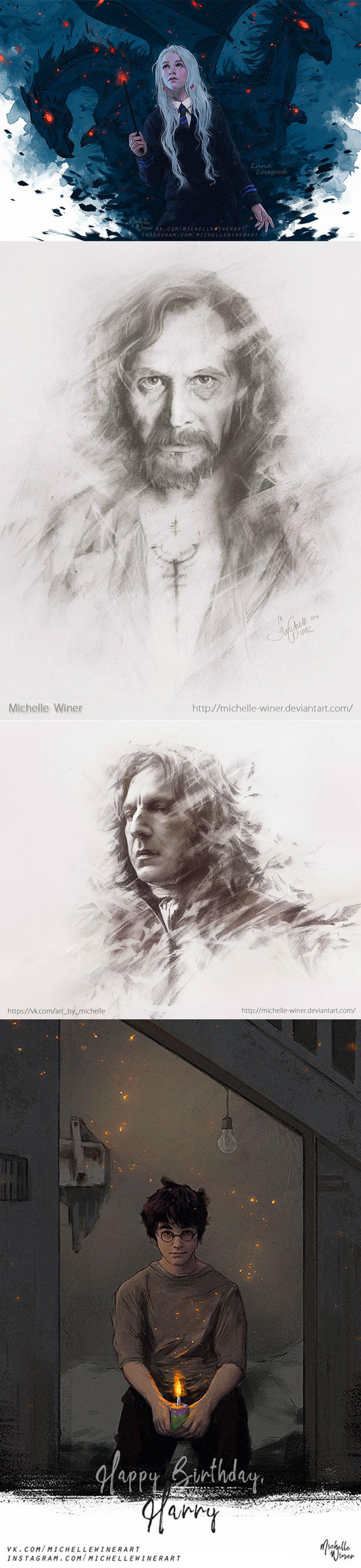 Harry Potter Fan Art by Michelle Winer