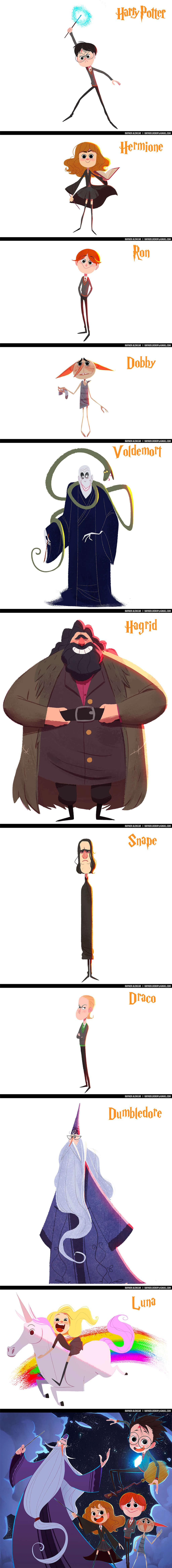 Harry Potter Fan Art by Rayner Alencar