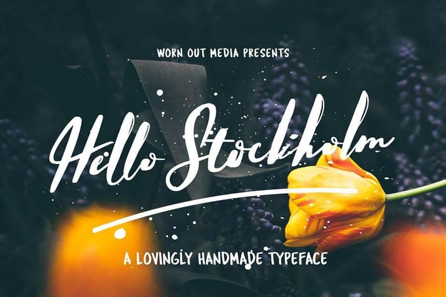 Hello Stockholm — Handmade Typeface