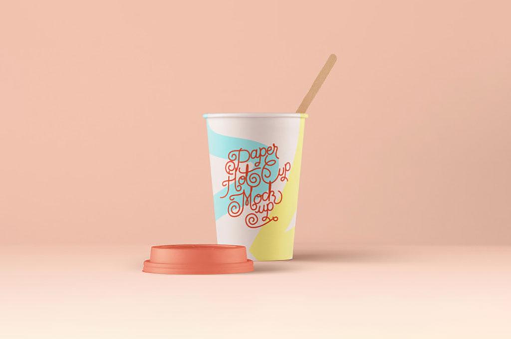 Hot Paper Cup Mockup