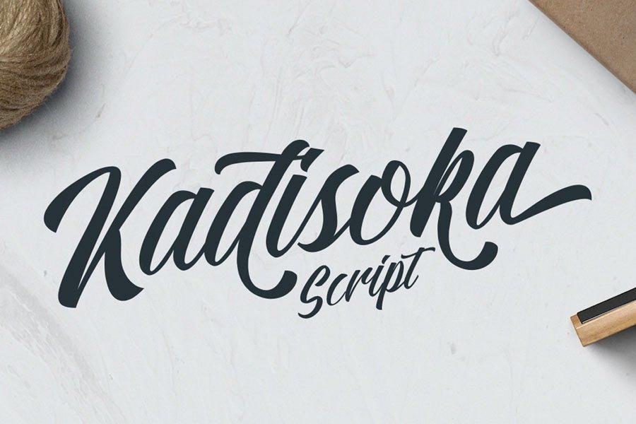 Kadisoka Free Calligraphy Font