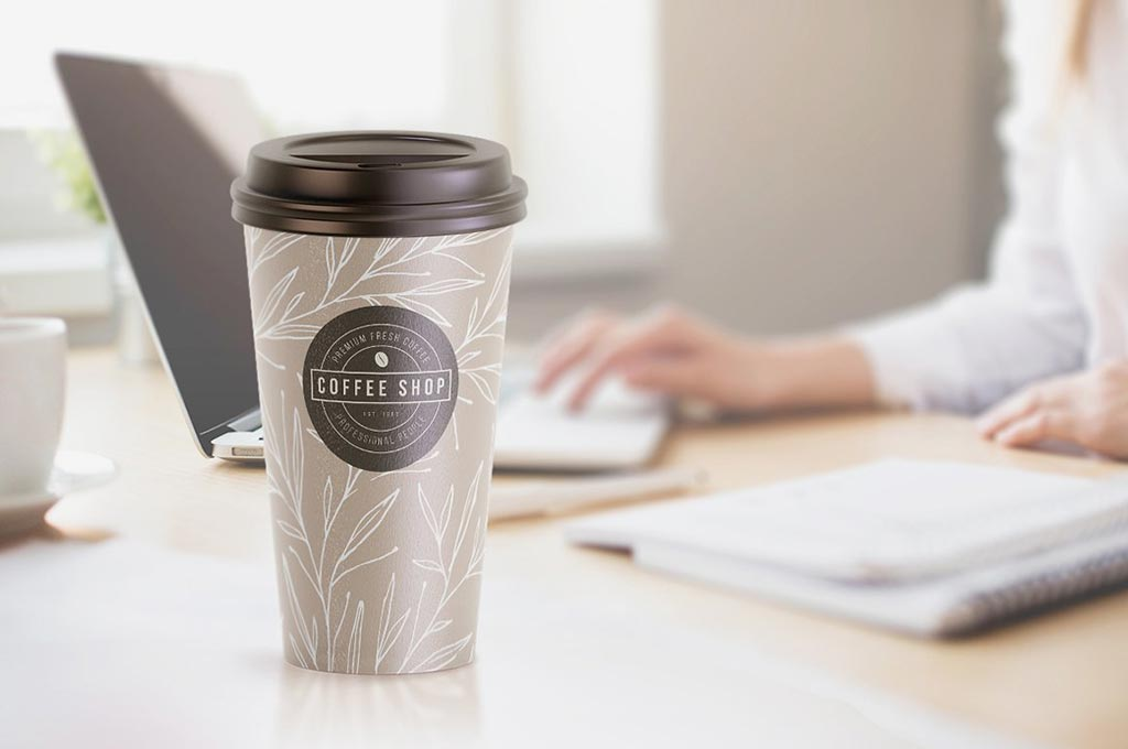 Large Coffee Cup Mockup: Animated Version