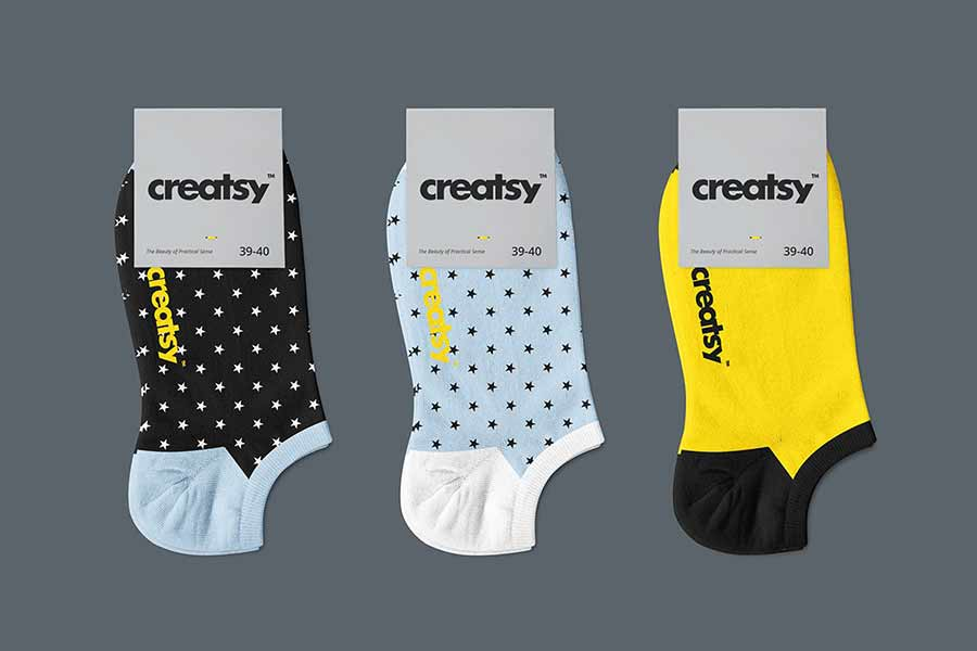 Low Cut Socks Mockup Set