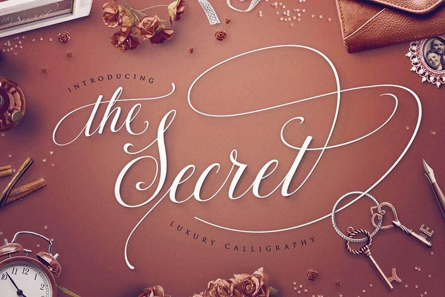 The Secret: Luxury Calligraphy Script