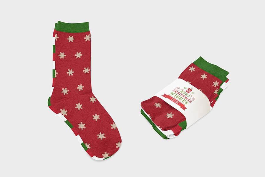 Melange Socks Mockup