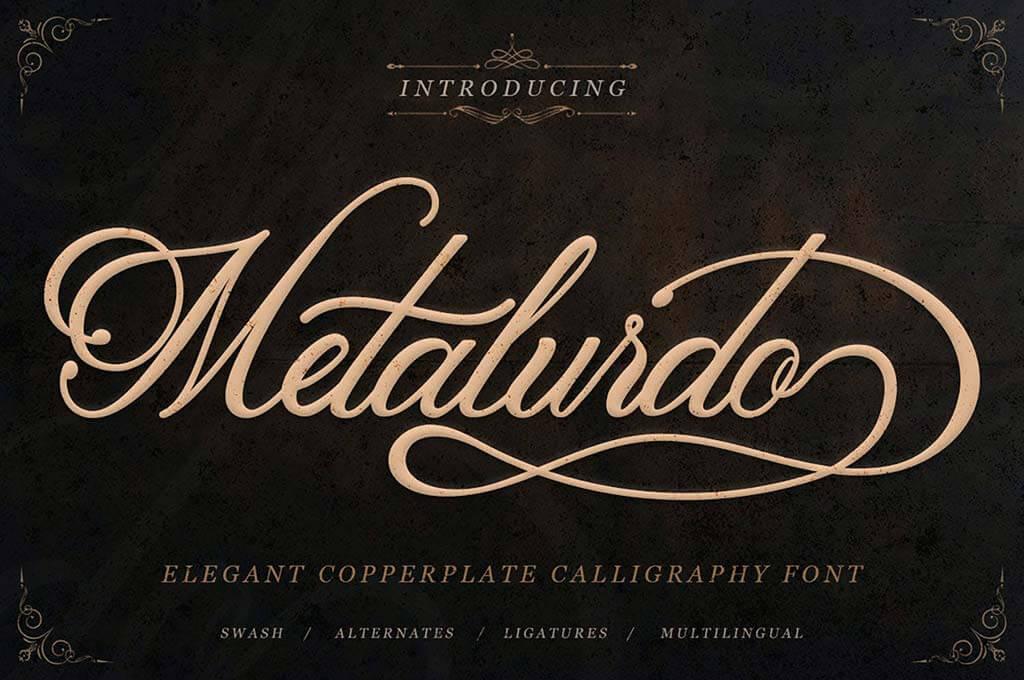 Metalurdo — Elegant Calligraphy Font