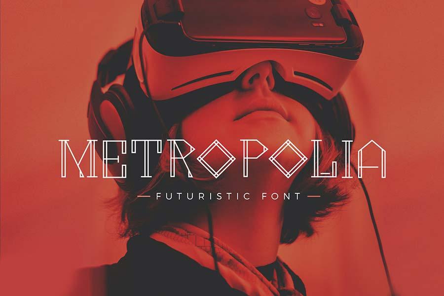 Metropolia — Futuristic Font