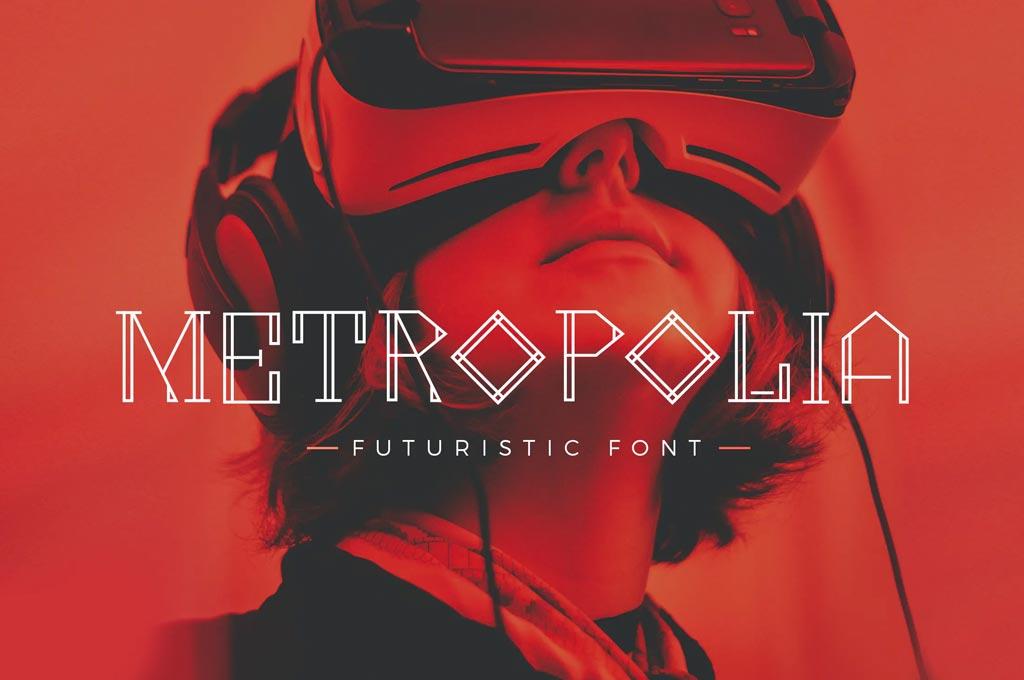 Metropolia Futuristic Font